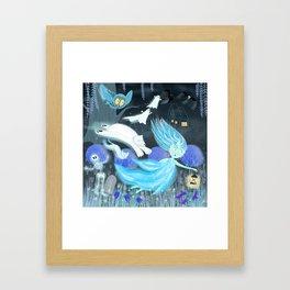 Spooky Lora Framed Art Print