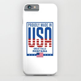Great Falls Montana iPhone Case