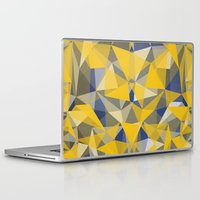 yellow pattern Laptop & iPad Skins featuring Yellow by jbjart