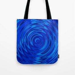 Water Moon Cobalt Swirl Tote Bag