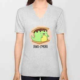 Dinosmore Cute Smore Dinosaur Pun Unisex V-Neck