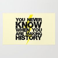 history Area & Throw Rugs featuring HISTORY by Silvio Ledbetter