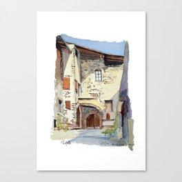 Ruelle Chatillon en Diois Canvas Print