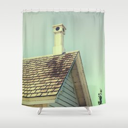 Summer cottage gable roof Shower Curtain