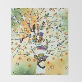 Raven Tree of Life Throw Blanket