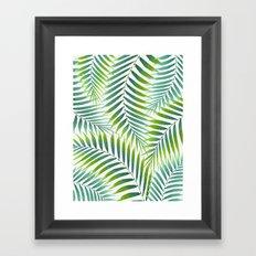 Palm leaves VI Framed Art Print