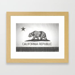 California Republic state flag Framed Art Print