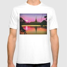 Twilight View. Mens Fitted Tee White SMALL