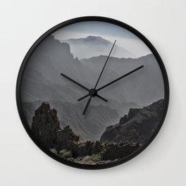 Mountains of La Palma Wall Clock