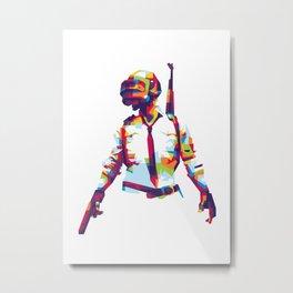 PlayerUnknown's Battlegrounds PUBG WPAP Pop Art Metal Print