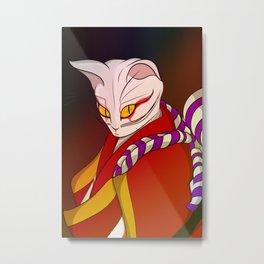 Cat kabuki Metal Print