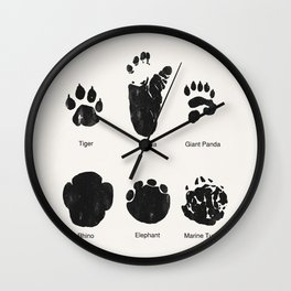 Animal Track Wall Clock