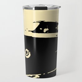 Fiat 500 classic, Black on Cream Travel Mug
