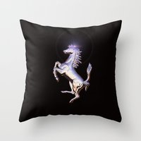 ferrari Throw Pillows featuring Ferrari by JT Digital Art