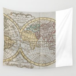 Vintage Map of The World (1795) Wall Tapestry