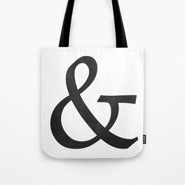 Ampersand (Black) Tote Bag