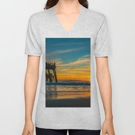Sunset Splash Unisex V-Neck
