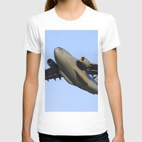 aviation T-shirts featuring C-17 Globemaster Aviation USAF Take Off by Aviator