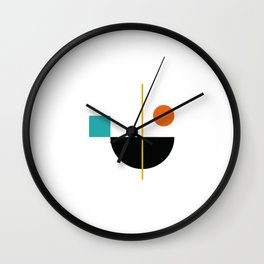DEK 02// Art Deco & Mid Century Minimalist Illustration Wall Clock
