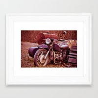 moto Framed Art Prints featuring Vintage Moto by Eduard Leasa Photography