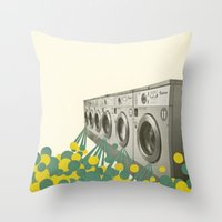 waterfall Throw Pillows featuring Waterfall by Cassia Beck