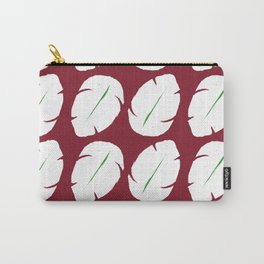 Ohana red background hawaiian leaves Carry-All Pouch