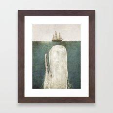 The Whale - vintage option Framed Art Print