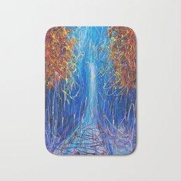 Impressionist Autumn -  ( inspired by Pollock ) Bath Mat