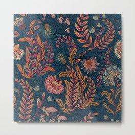Bandana - Floral Metal Print