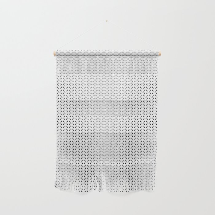 Black and White Basket Weave Shape Pattern - Graphic Design Wall Hanging