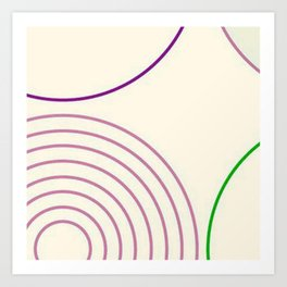 Motif circulaire Art Print