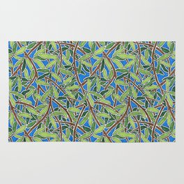 Leaves and Branches in Weaving Tangle Rug