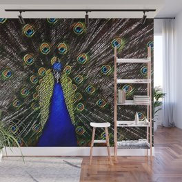 Jeweled Peacock Portrait Painting by Jeanpaul Ferro Wall Mural