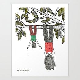 Balancê Reverso Art Print