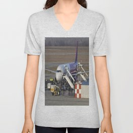 Wizz Air Jet And Fire Brigade Unisex V-Neck