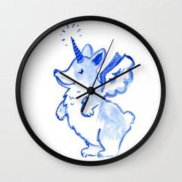 Unicorgi Takes Flight Wall Clock