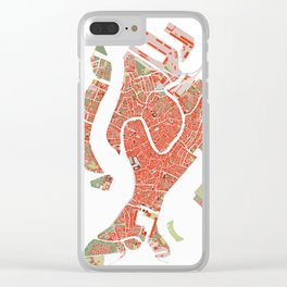 Venice city map classic Clear iPhone Case