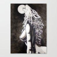 okami Canvas Prints featuring Okami by Rōō Hattori