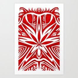 bud buggin red & wihte Art Print