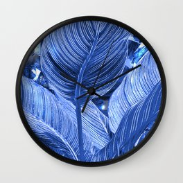 Alien plant life blue Wall Clock