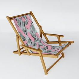 Hopper Pattern Sling Chair