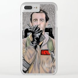 Bill Murray in Ghostbusters Clear iPhone Case