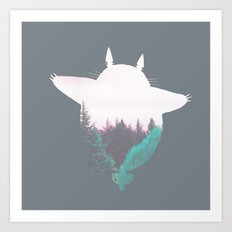 Troll Atop the Dreamland Forest Art Print
