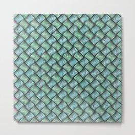 Patchwork Moire Silk Metal Print