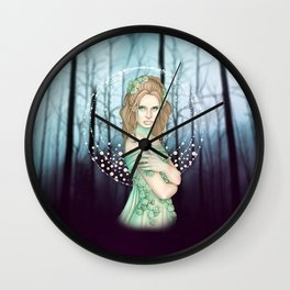 Winter Fairy Wall Clock