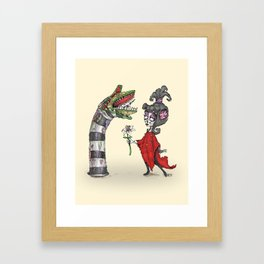 Lydia and the Sandworm Framed Art Print