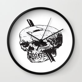 Frontal Lobotomy Skull Of Phineas Gage Vector Isolated Wall Clock