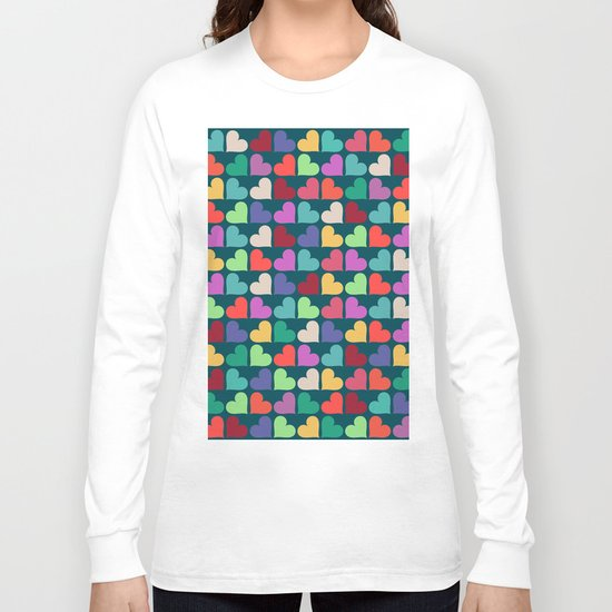 Colorful Love Pattern XII Long Sleeve T-shirt