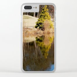 Quiet reflection Clear iPhone Case