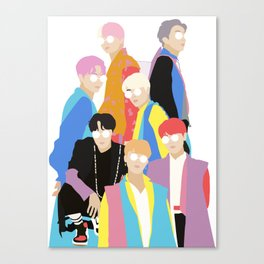 BTS IDOL Hanbok Illustration Canvas Print